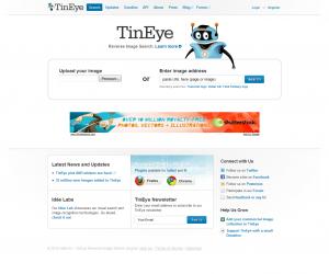 Accueil TinEye.com