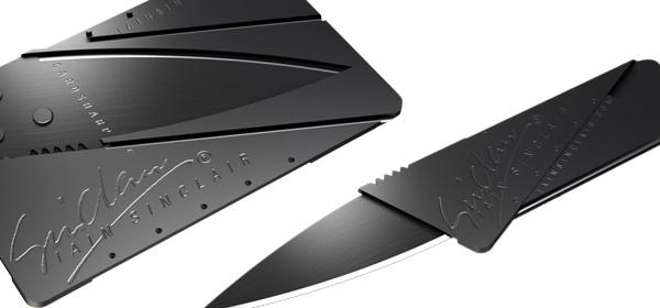 Couteau de poche aussi fin qu'une carte de crédit