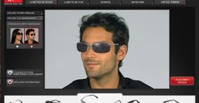 Réalité augmentée - Essayer vos lunettes en ligne avec Ray-Ban