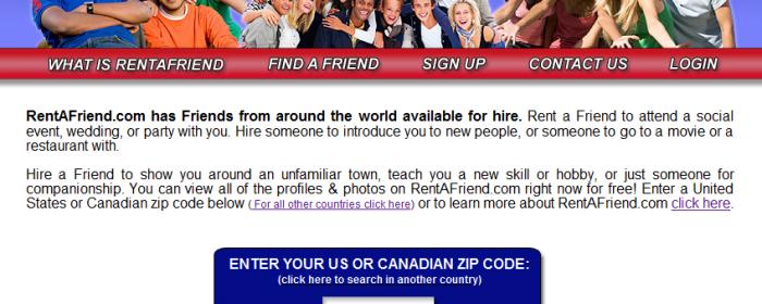 RentAFriend.com