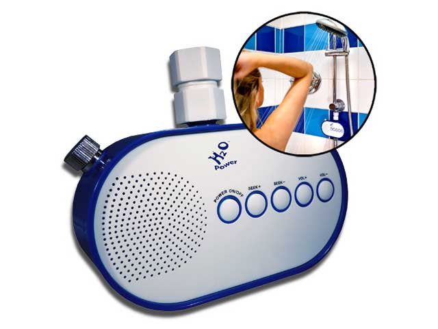 H2o power la radio de douche waterproof qui marche l for Radio pour la salle de bain