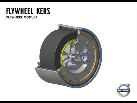volvo flywheel kers une roue d 39 inertie capable de r duire de 20 la consommation de carburant. Black Bedroom Furniture Sets. Home Design Ideas