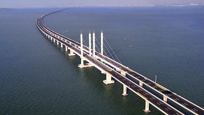 Jiaozhou Bay Bridge Le Pont Le Plus Long Du Monde Vient