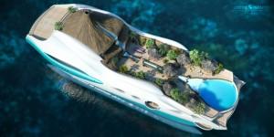 Tropical Paradise Island : concept de yacht à thème de luxe