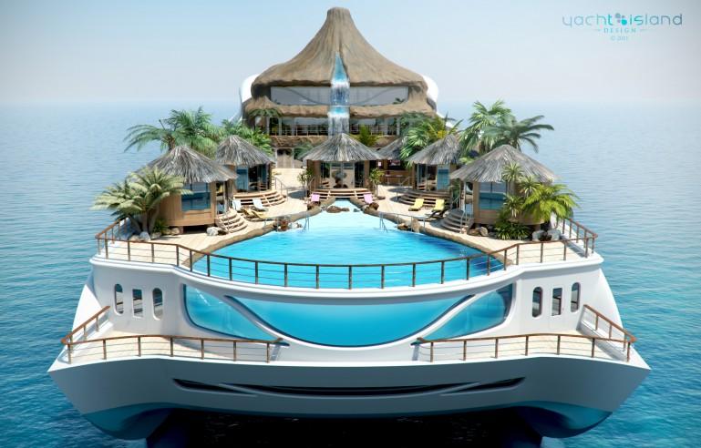 Tropical Paradise Island Concept De Yacht Thme