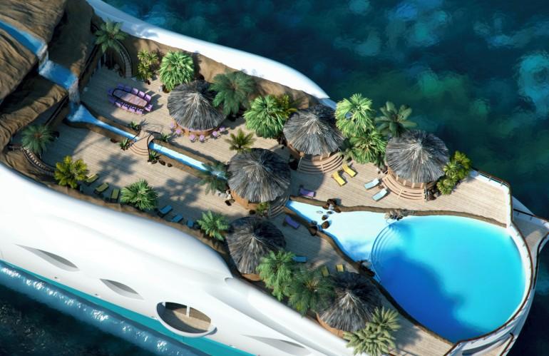 tropical paradise island concept de yacht 224 th 232 me de tropical island paradise mega yacht by yacht island design