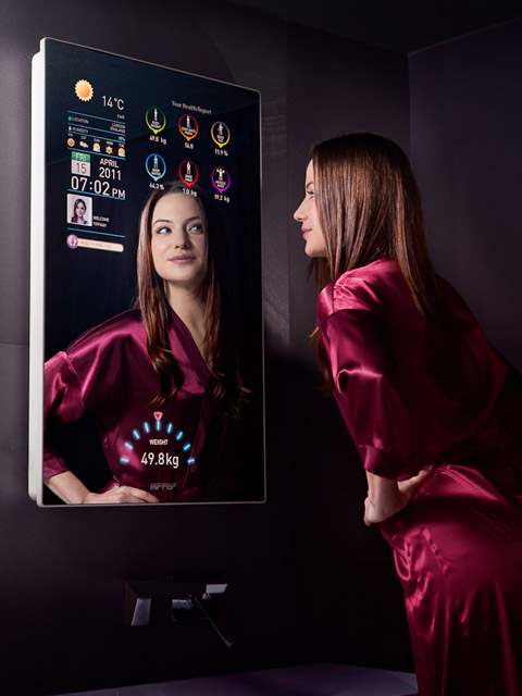 Cybertecture mirror le miroir intelligent du futur est l for Miroir high tech