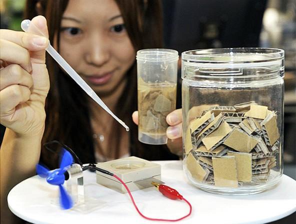 Bio pile sony transforme du vieux papier en lectricit actinnovation n - Generer de l electricite ...