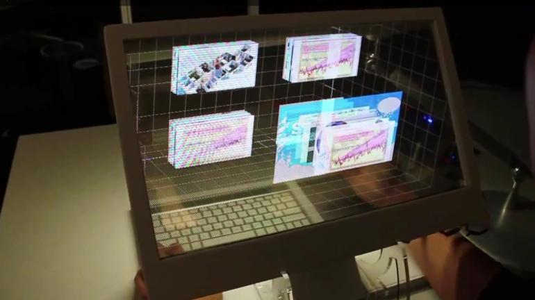 Vidéo : Microsoft invente un clavier d'ordinateur 3D d'un