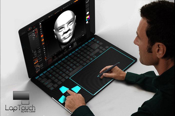 Concept touchlap un ordinateur portable con u pour les for Mobile porta pc design