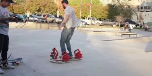 Low tech : un hoverboard fabriqué avec 4 souffleurs de feuilles
